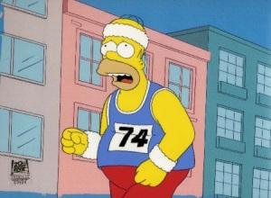 Homer Simpson running